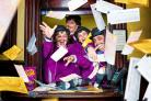 Oompa Loompas from musical Charlie and the Chocolate Factory celebrate Roald Dahl day