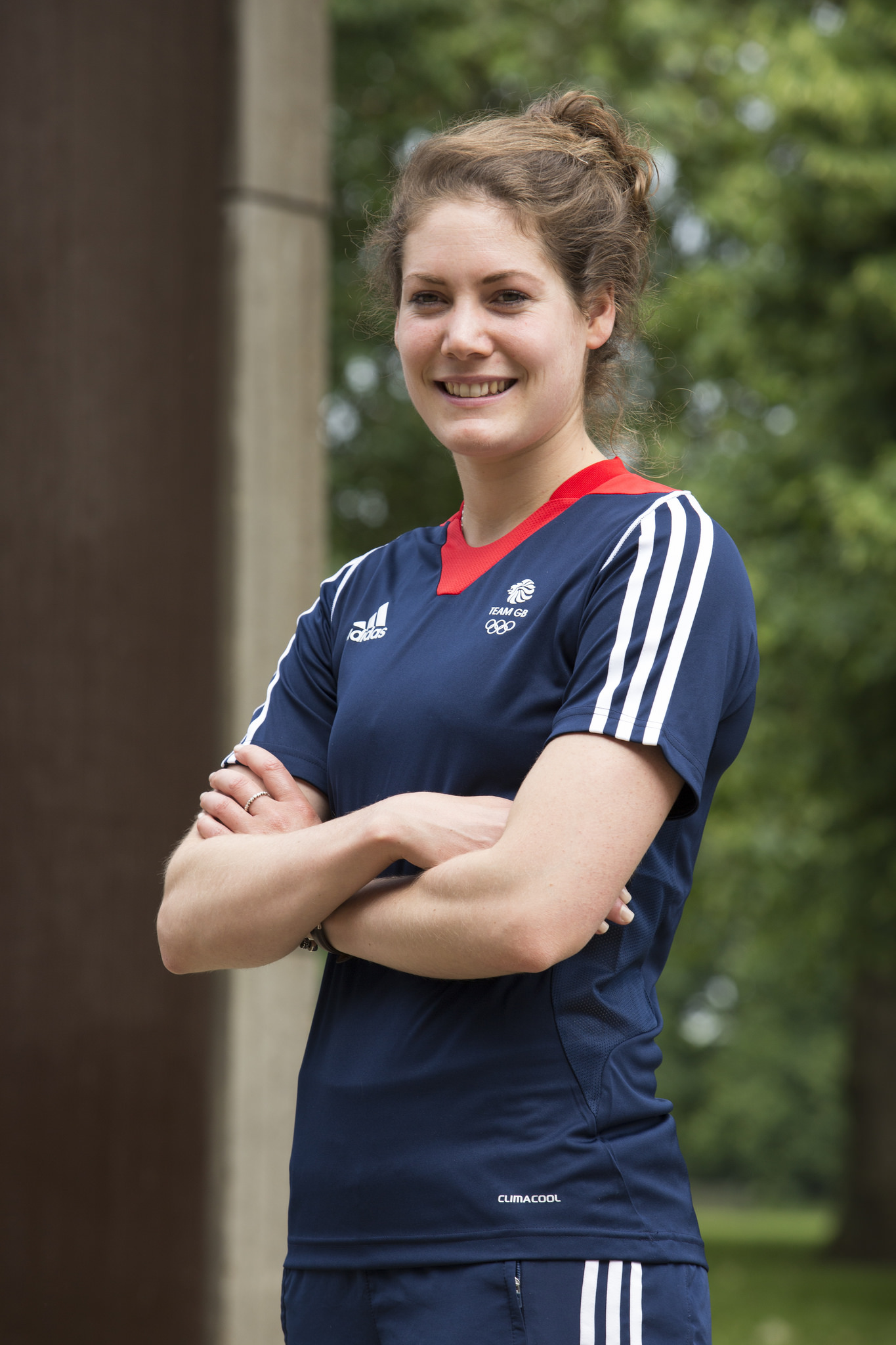 Kate French at the announcement of Team GB's Modern Pentathlon squad for the Rio 2016 Olympic Games.