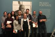 Uxbridge College students had a rare preview of the prestigious Picasso Portraits exhibition at the National Portrait Gallery
