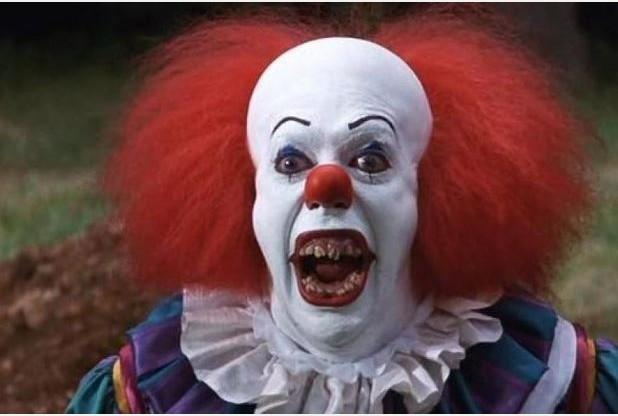 Hillingdon Times: Tim Curry as Pennywise the clown in an adaptation of Stephen King's novel It