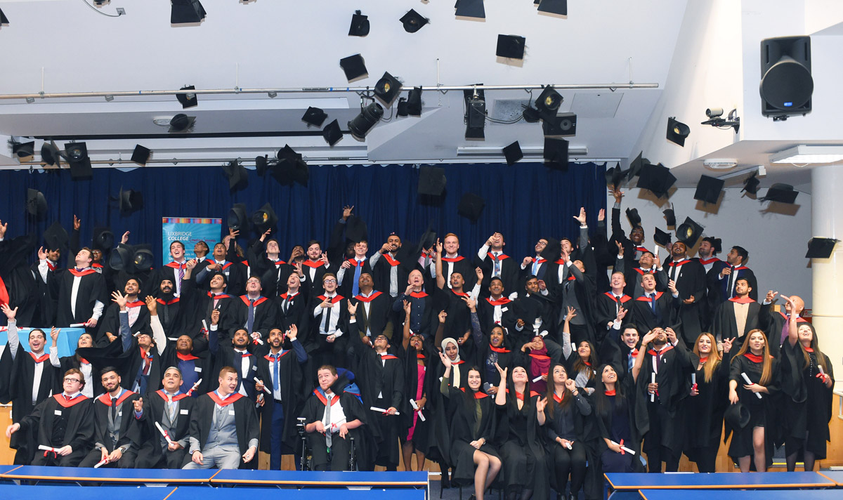 More than 50% of graduates from Uxbridge College's HNCs and HNDs go on to the final year at uni