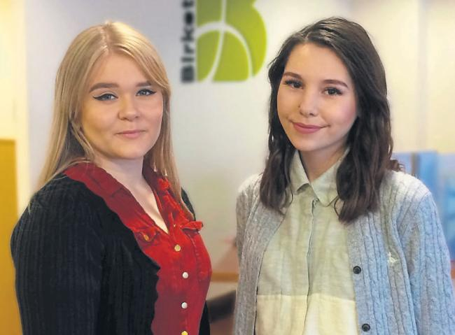 Apprentices - Holly Croft and Daisy Murfin who are working at Birkett Long