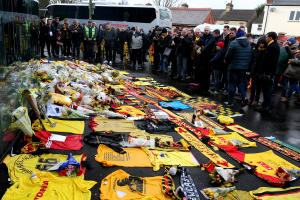 Hornets fans paying tribute to Graham Taylor at Vicarage Road. Picture: Holly Cant