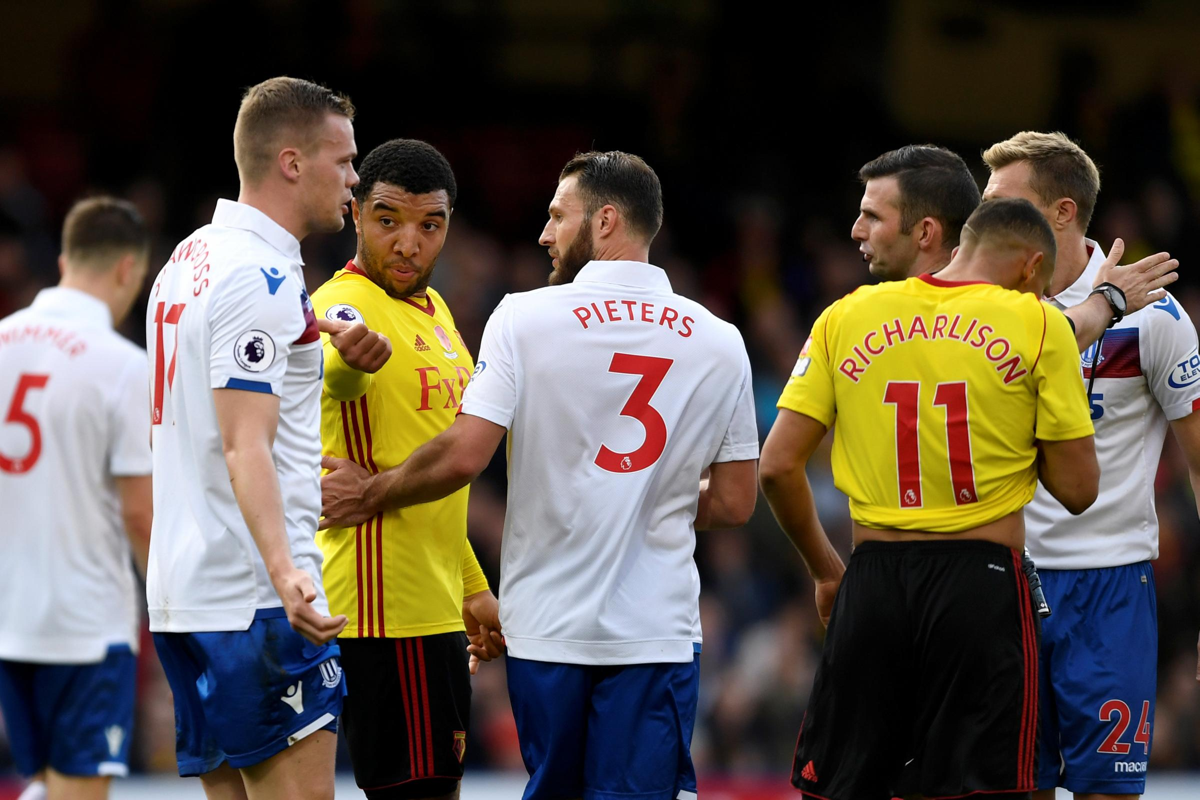 Troy Deeney faces a three-match ban for his actions at the end of Saturday's game. Picture: Action Images
