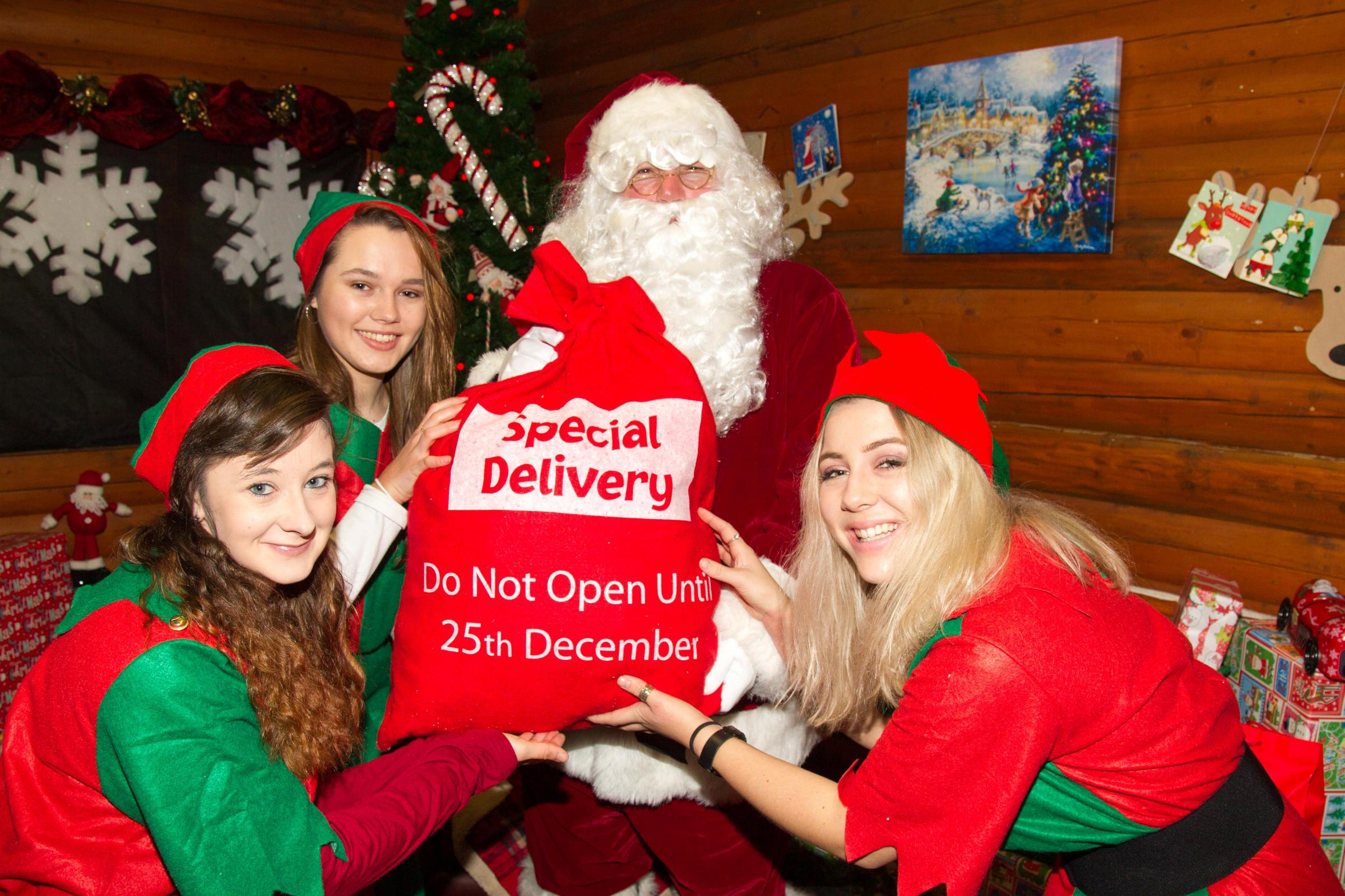 Santa's Arrival at Notcutts St Albans Garden Centre
