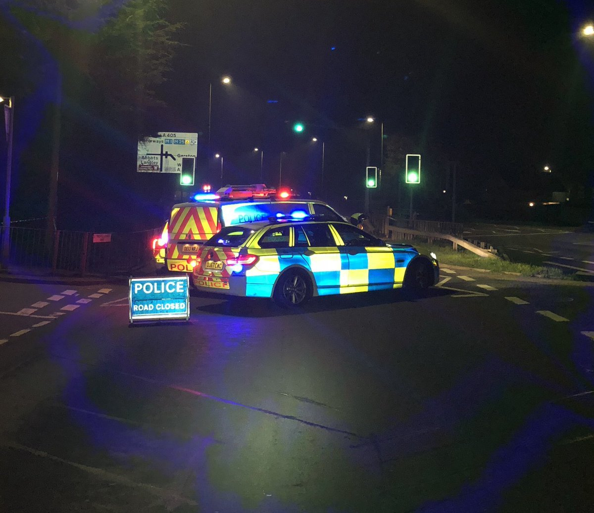 Police at the scene on Saturday night Credit: BCH Road Policing