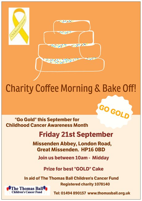 Coffee Morning and GOLD Bake Off