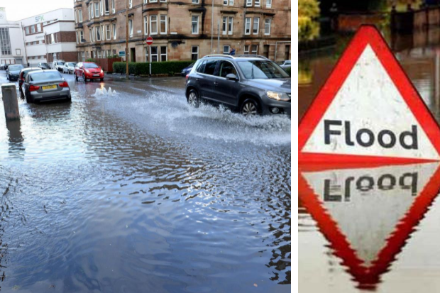 Delays on roads and Met Office weather warning
