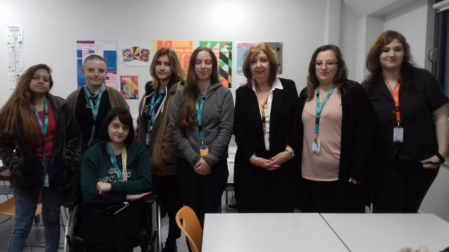 Uxbridge College students heard Tales From an Old Hack with author Barbara Fisher