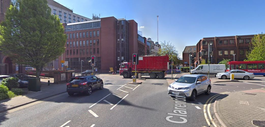 Clarendon Road junction with Beechen Grove, photo by Google Maps