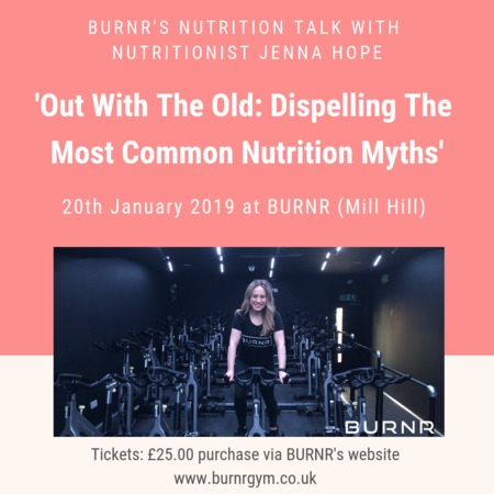 Nutritionist Jenna Hope: unravel thr truth behind common myths - SPIN BIKE