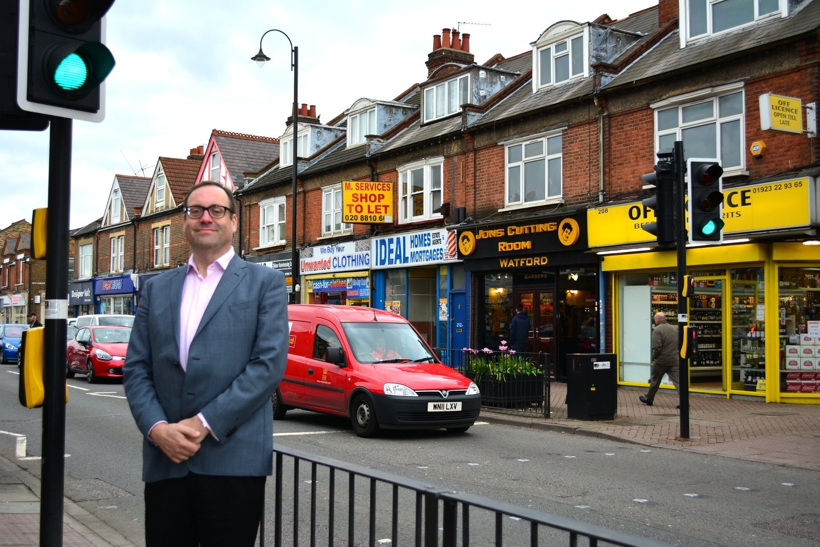 Watford MP Richard Harrington pictured in St Albans Road