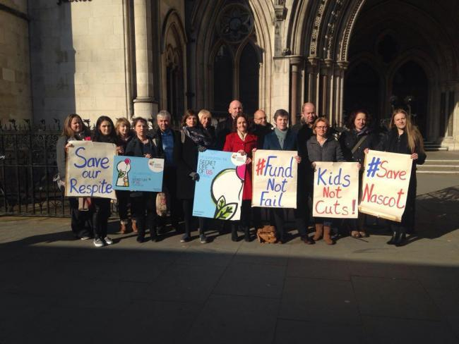 Parents of children cared for at Nascot Lawn Respite Service took their campaign to save it to judicial review