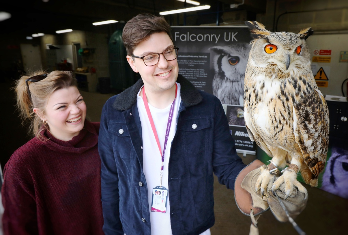 Word to the wise: getting close up and personal with a bird of prey