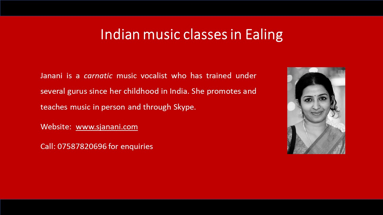 Indian music lessons