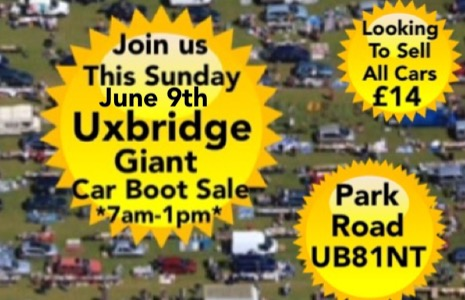 Uxbridge  Giant Sunday Car Boot Sale