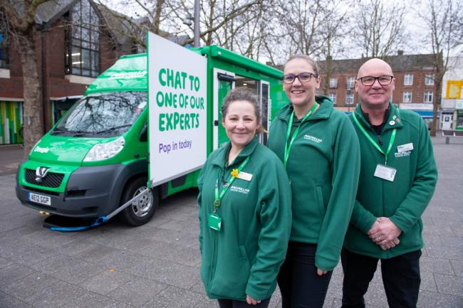On the road: the Macmillan support and advice team