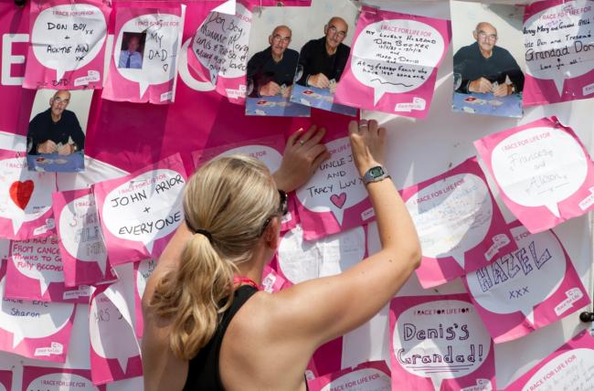 Dedications from Race For Life entrants