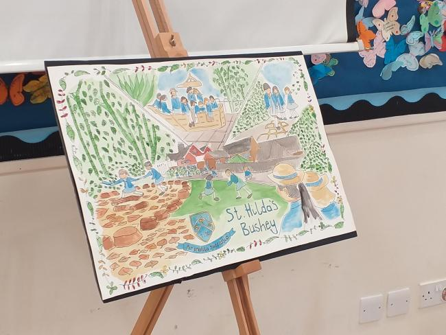 St. Hilda's School has commissioned a special watercolour painting depicting the school