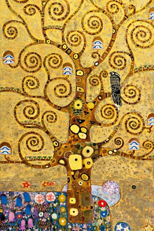 Holiday Arts: Gustav Klimt Tree of Life Tote Bags